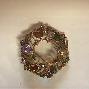 Jewelry - Gold and Gemstone Brooch